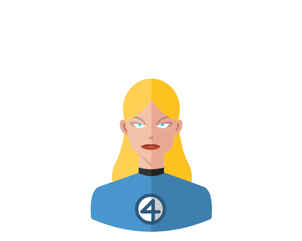 FF • Invisible Woman flat icon