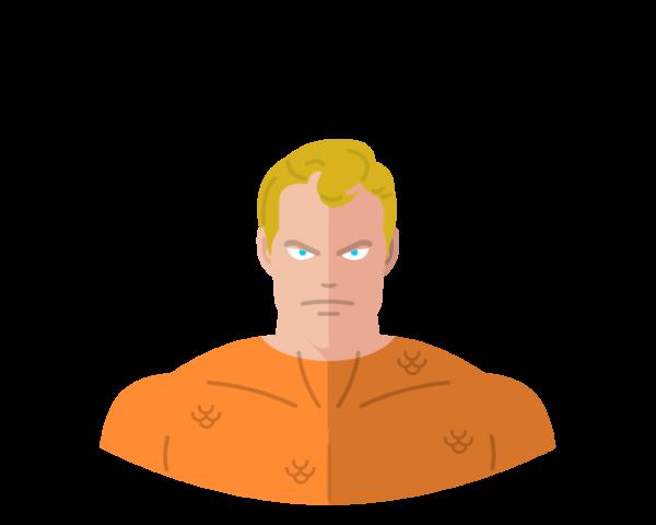 Aquaman flat icon