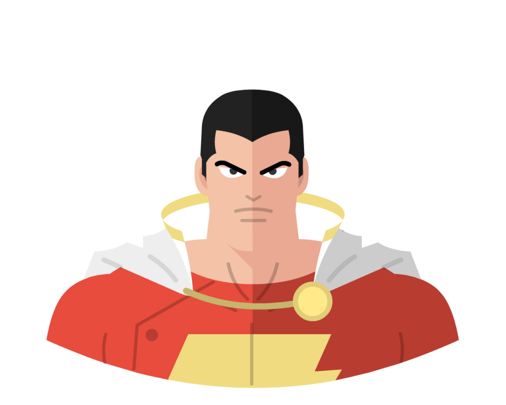 Shazam! flat icon
