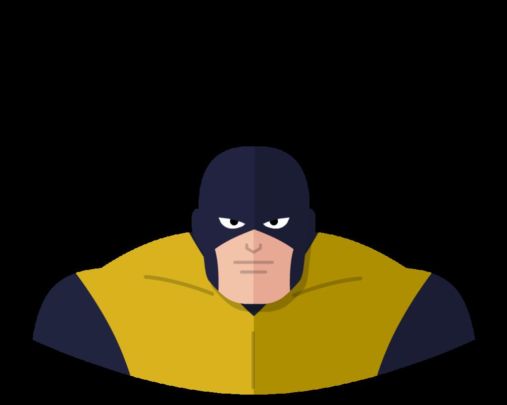 X-Men Beast flat icon