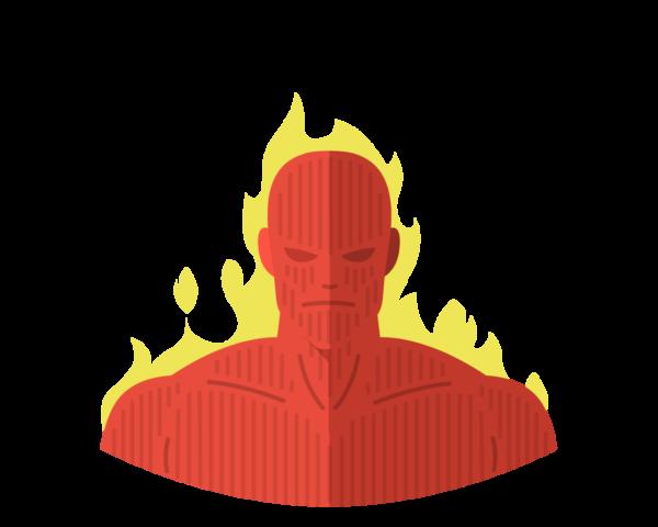 FF • Human Torch flat icon