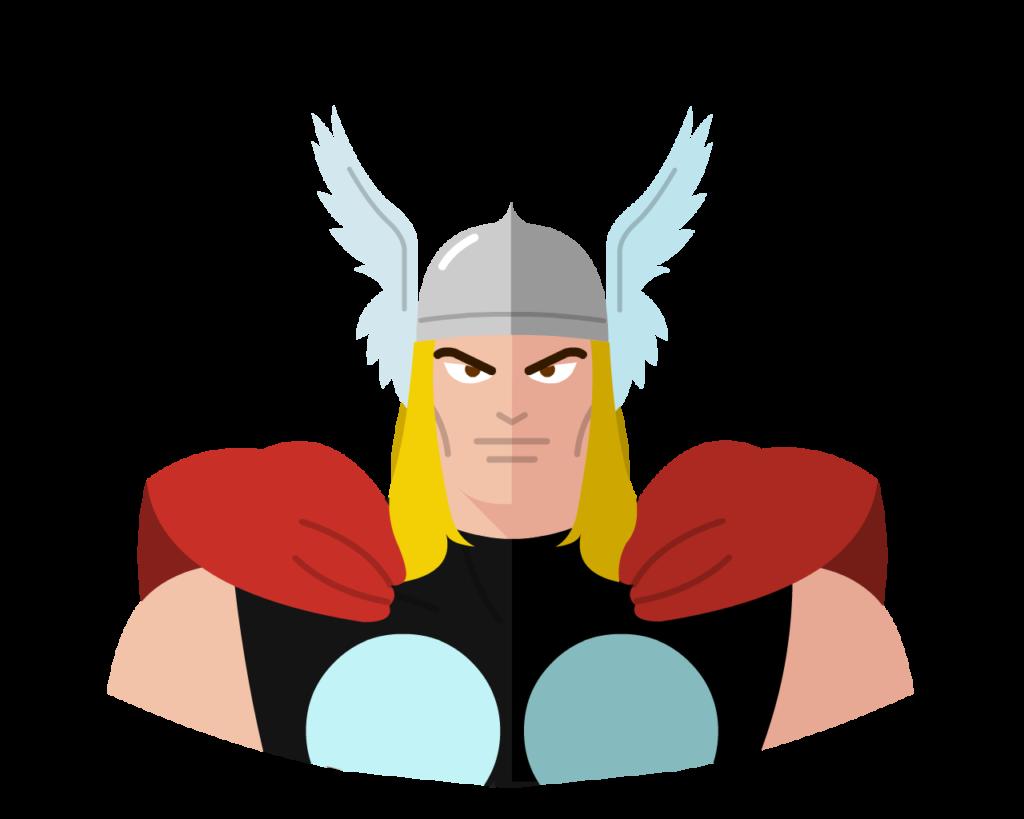 Thor flat icon