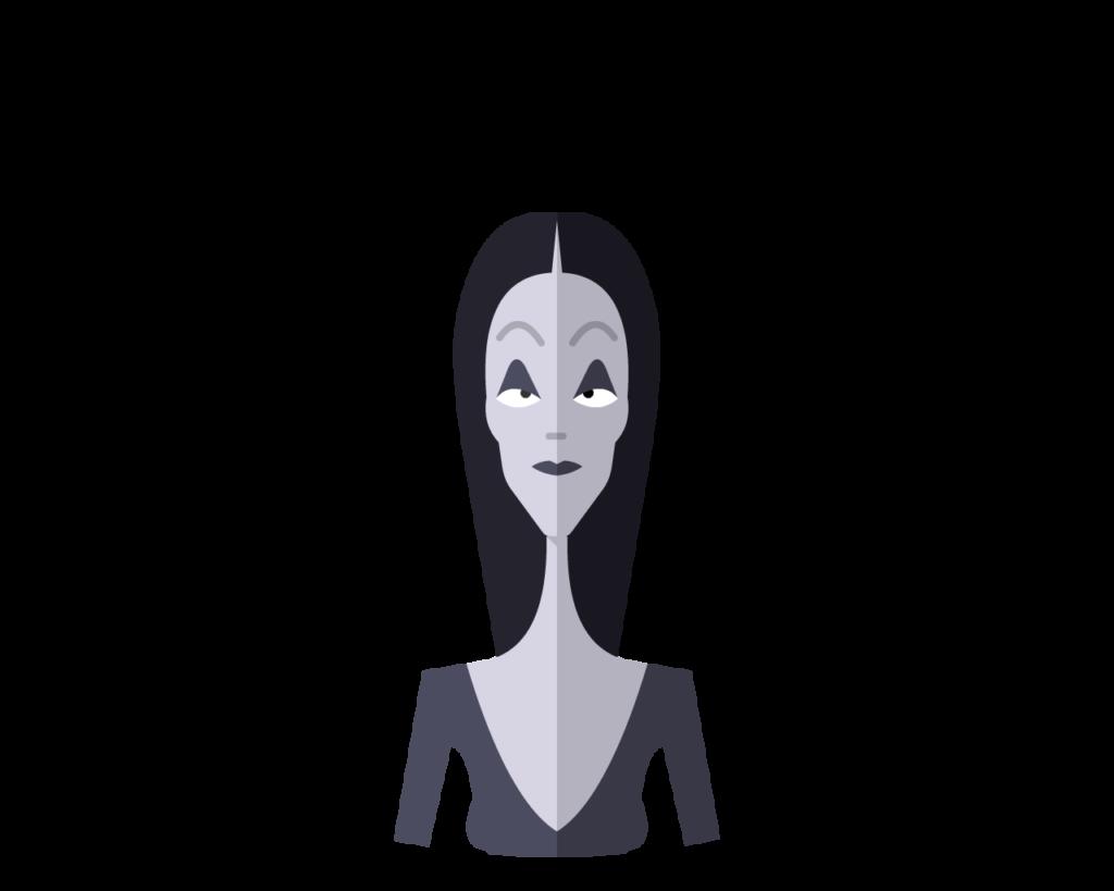 Morticia flat icon