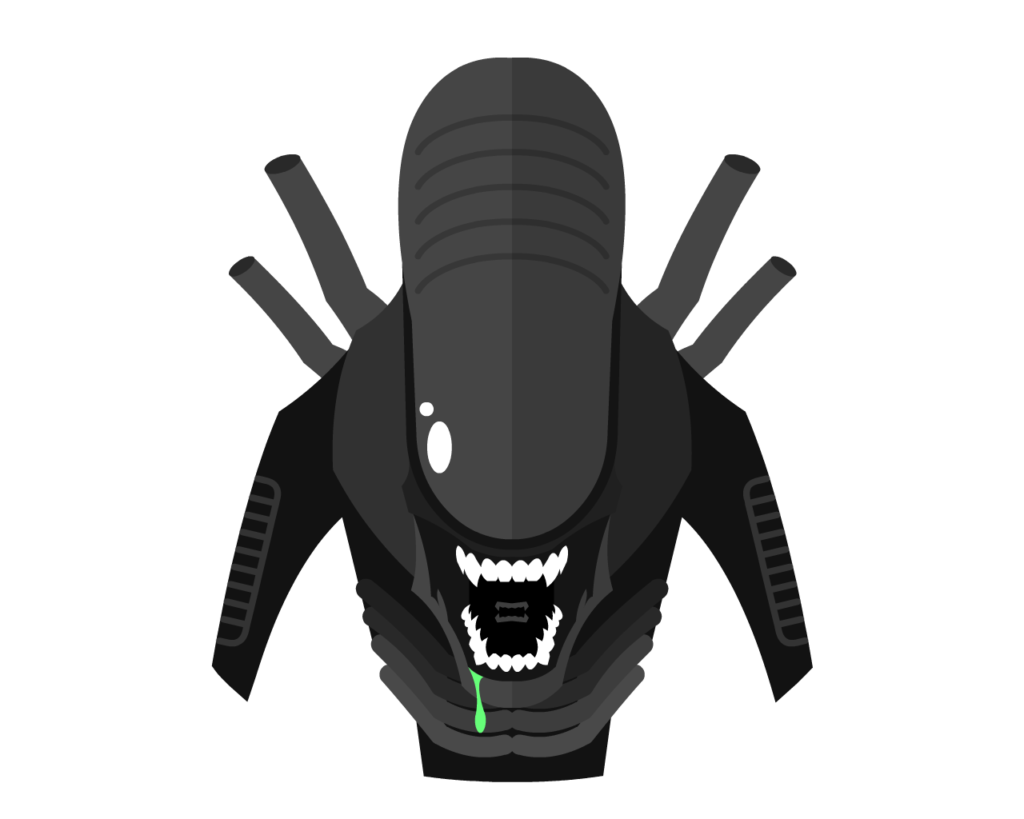 Xenomorph flat icon