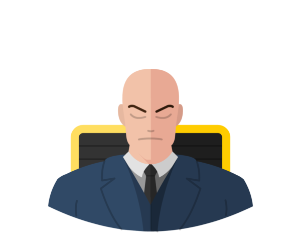 Professor X flat icon