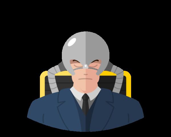 Professor X wt Cerebro flat icon
