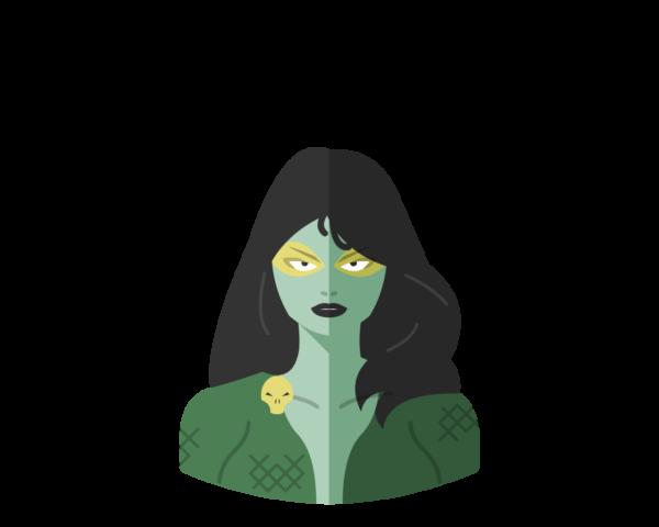 Gamora flat icon