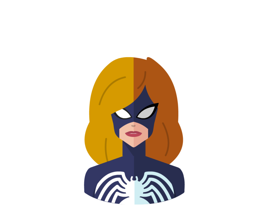 Spider Woman flat icon