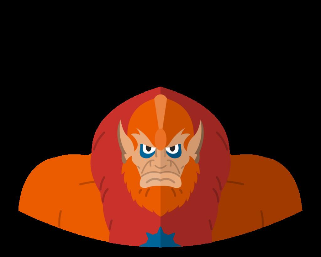 Beastman flat icon