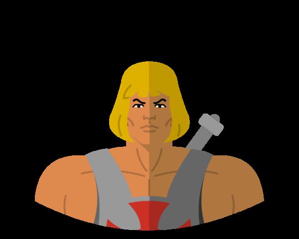 He-man flat icon