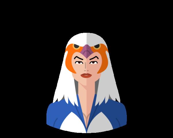 Sorceress flat icon