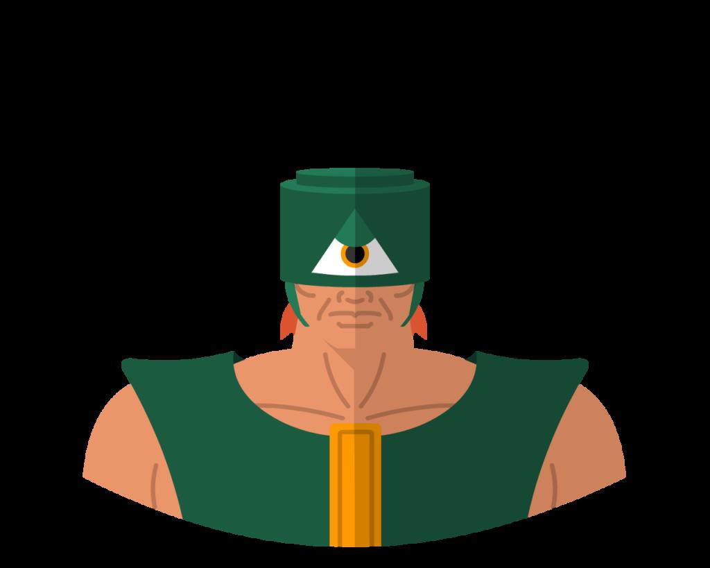 Triklops flat icon