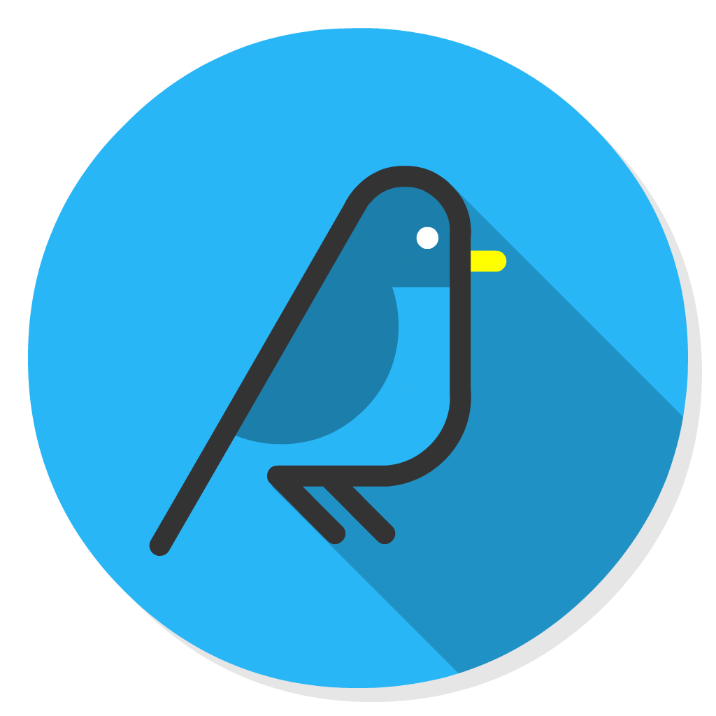Canary Mail flat icon
