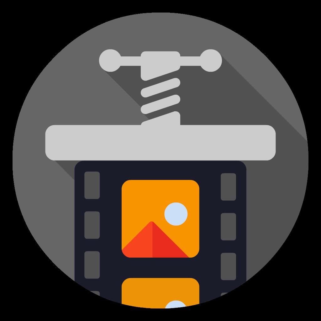 Compressor flat icon