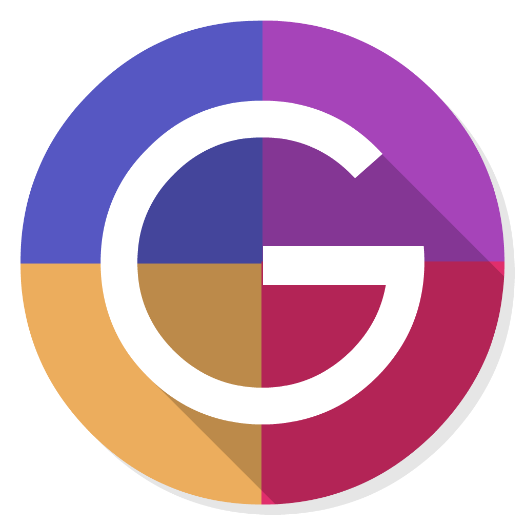 Grids flat icon