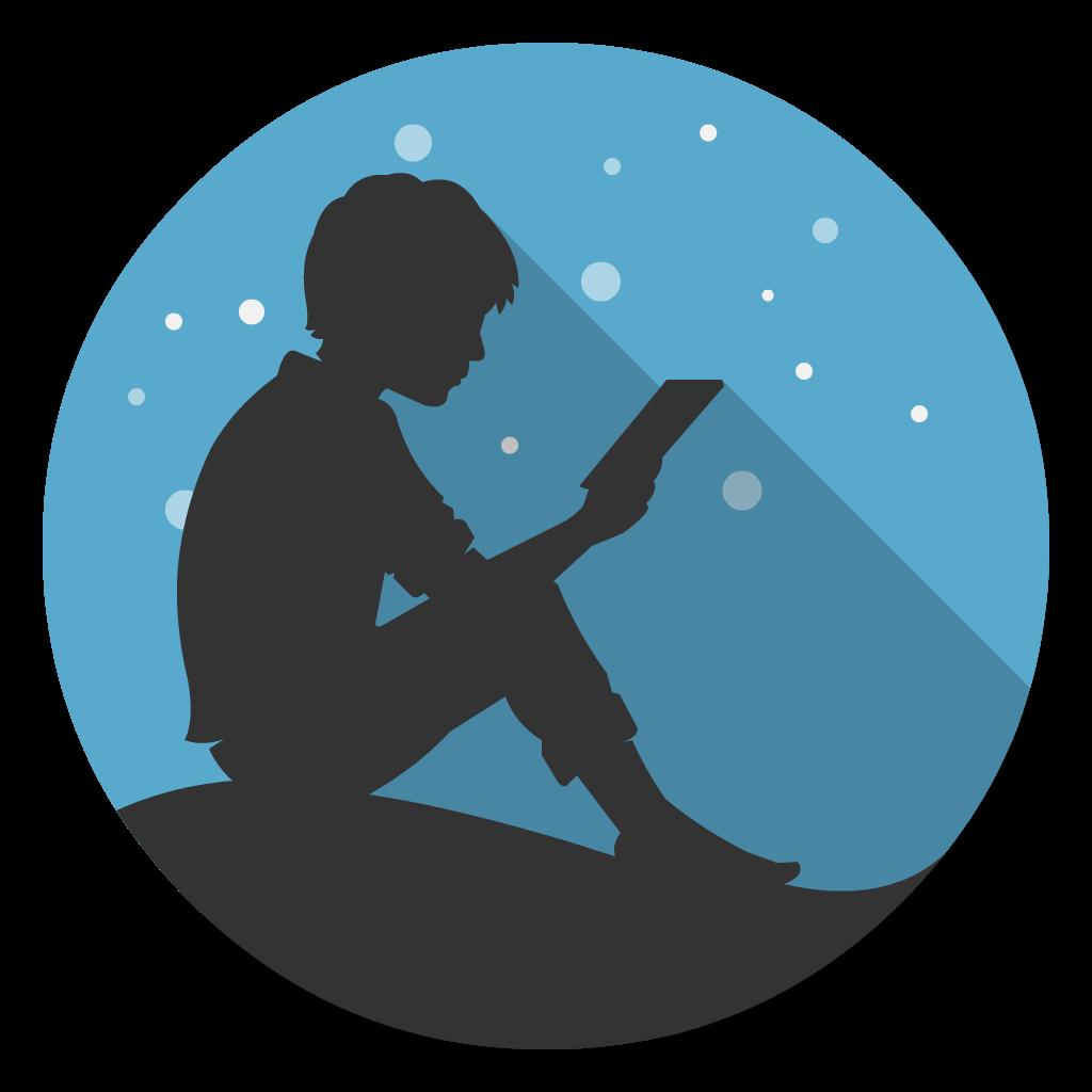 Kindle flat icon
