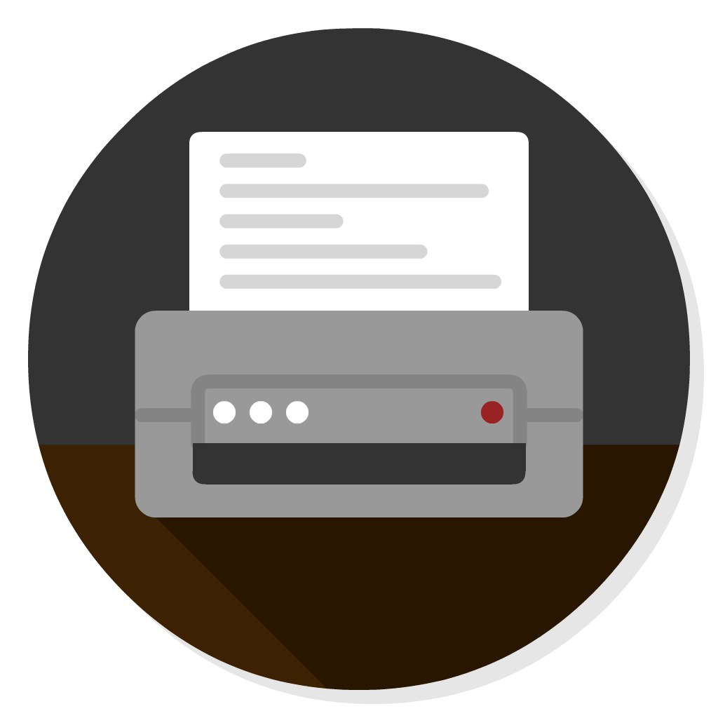 Generic Printer App flat icon