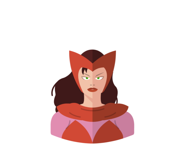 Scarlet Witch flat icon