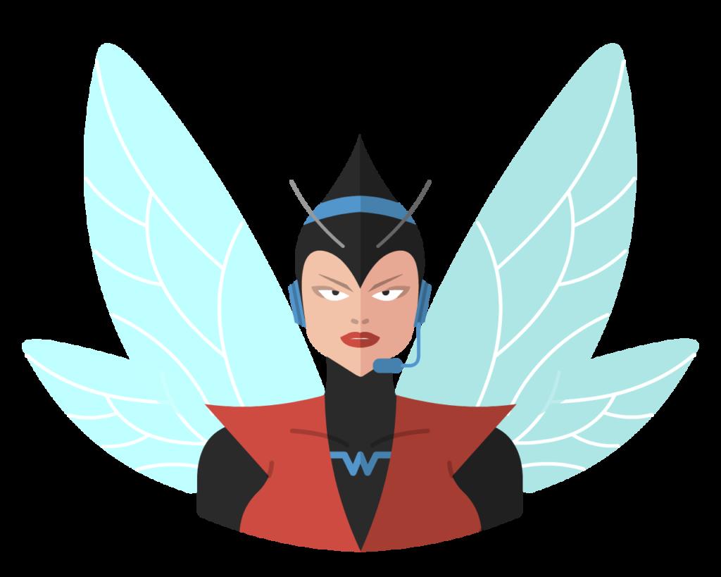 Wasp flat icon