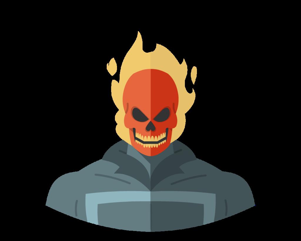Ghost Rider flat icon