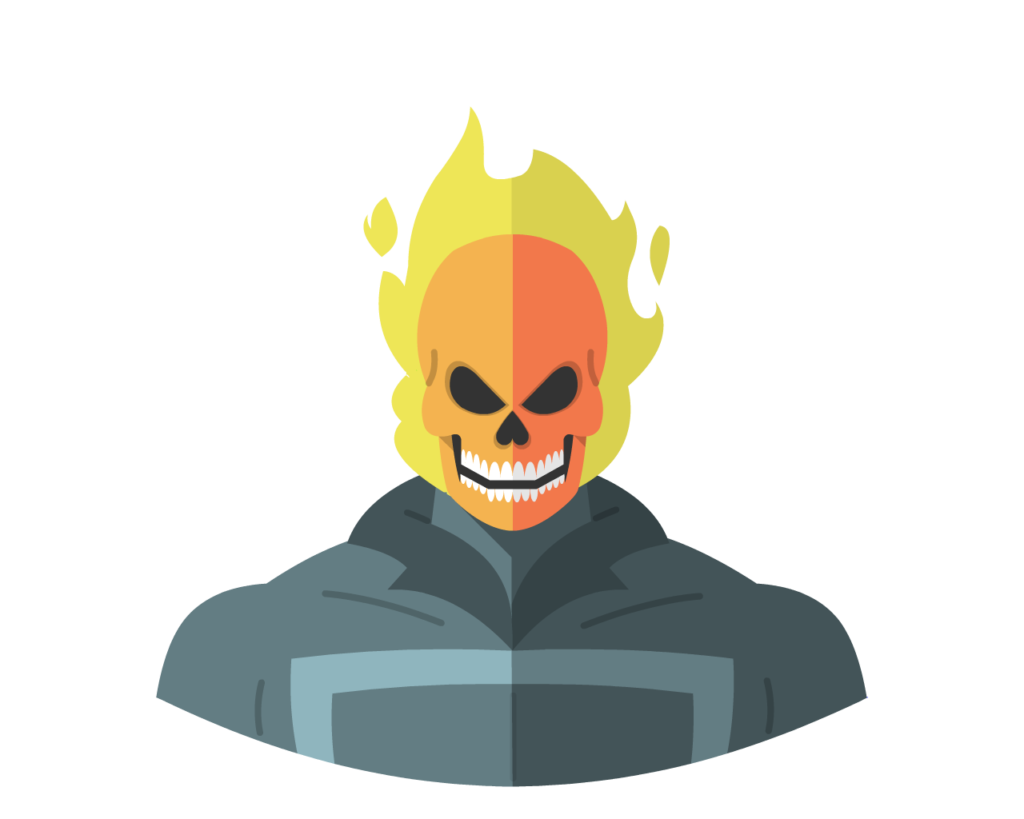 Ghost Rider flat icon