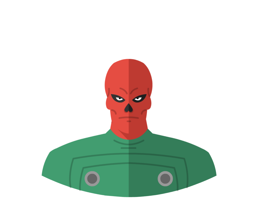 Red Skull flat icon