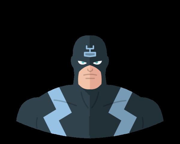 Black Bolt flat icon