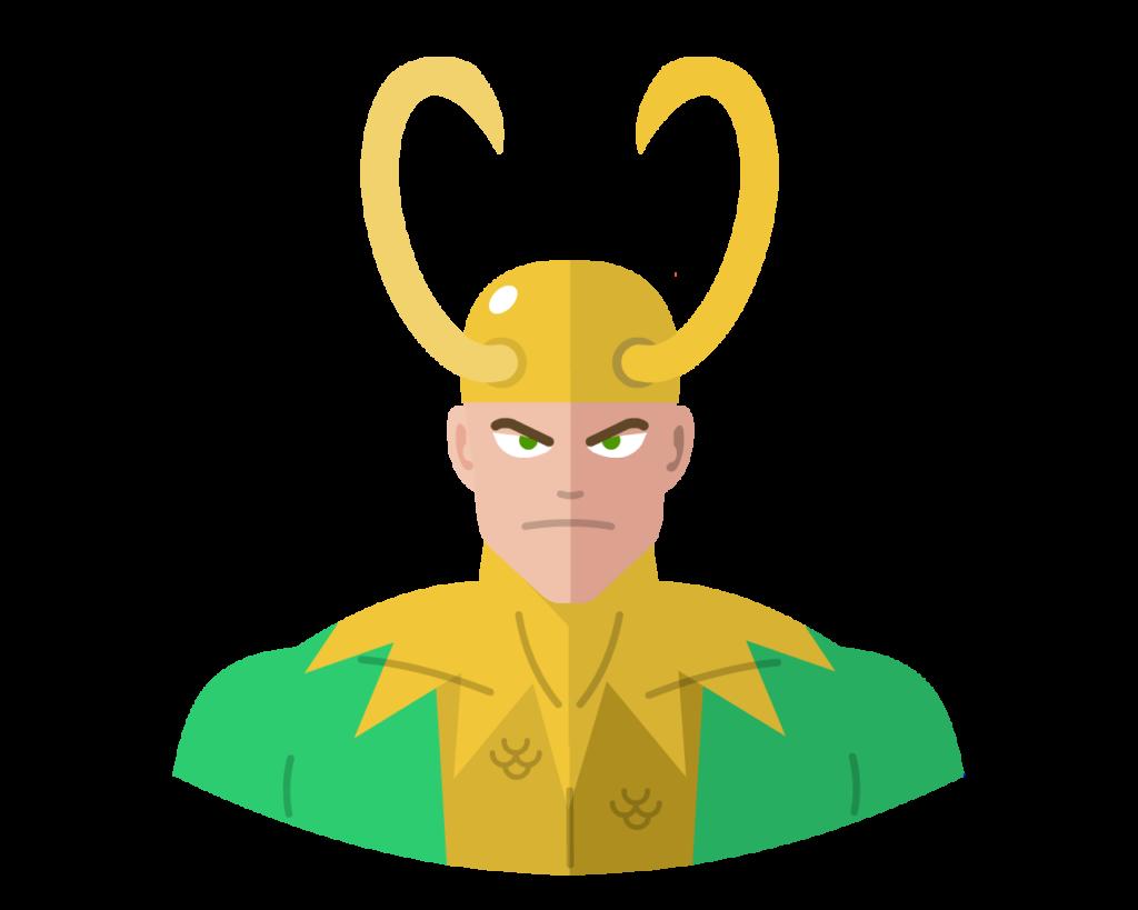 Loki flat icon