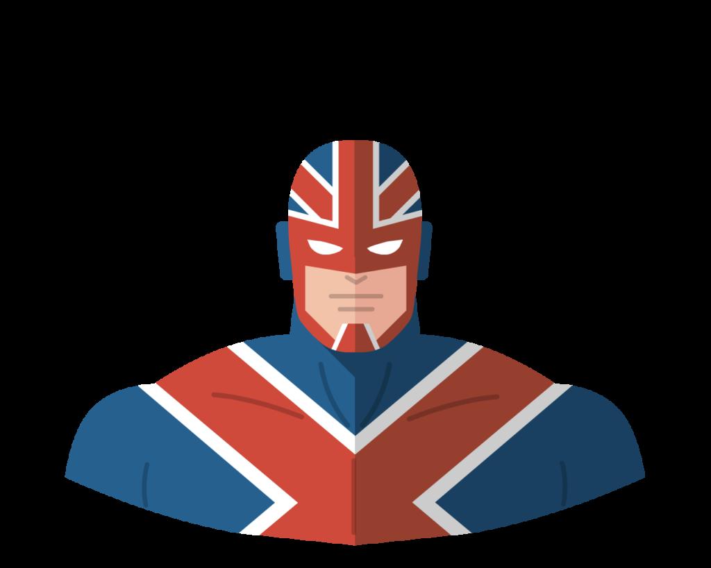 Captain Britain flat icon