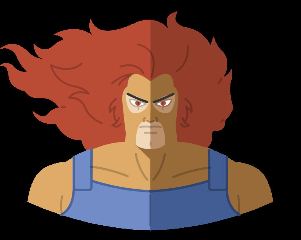 Lion-o flat icon