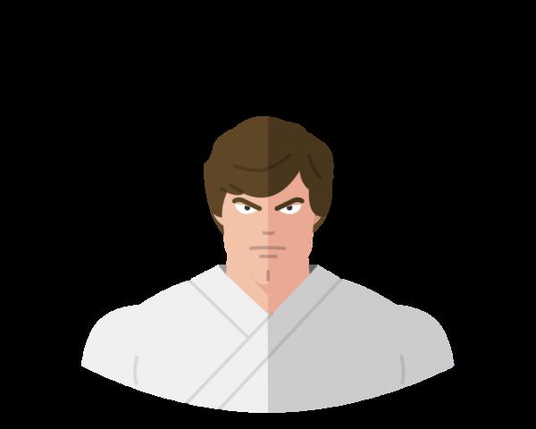Luke Skywalker flat icon