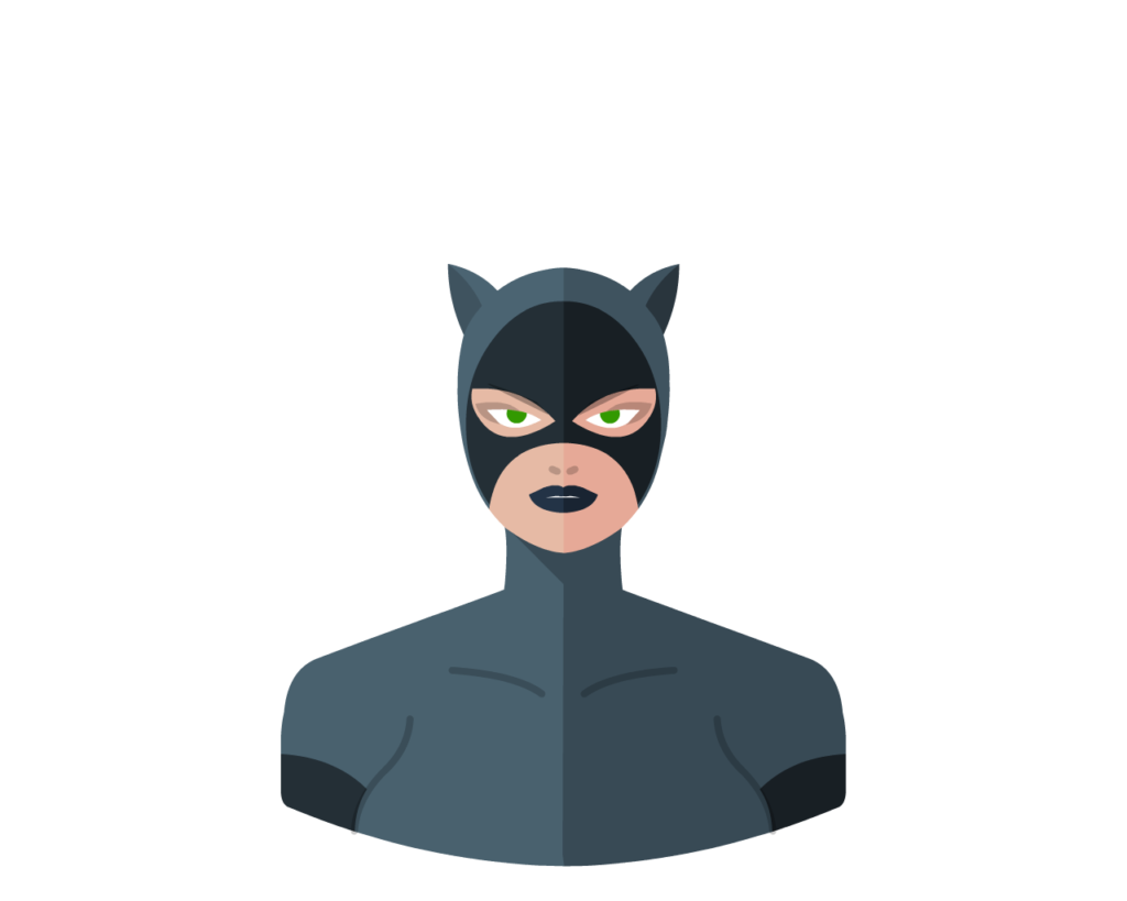 Catwoman flat icon