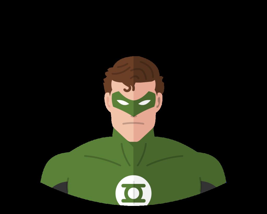 Green Lantern flat icon