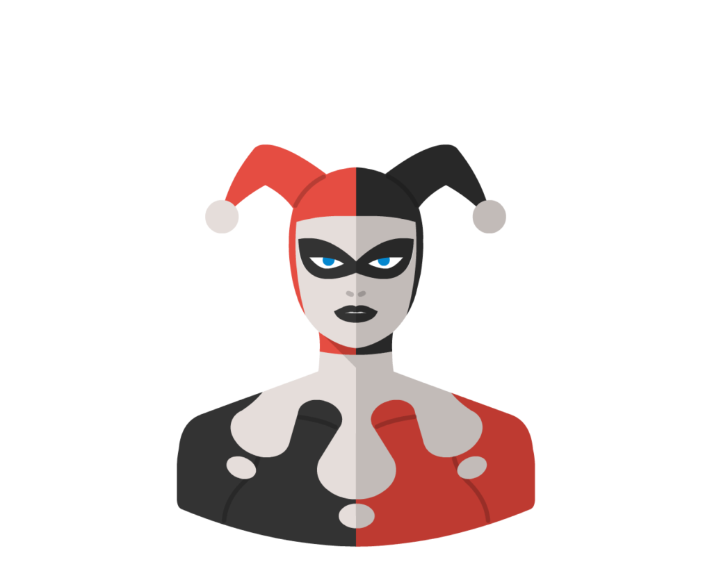 Harley Queen flat icon
