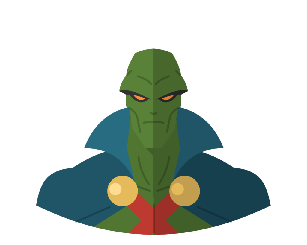 Martian Manhunter flat icon