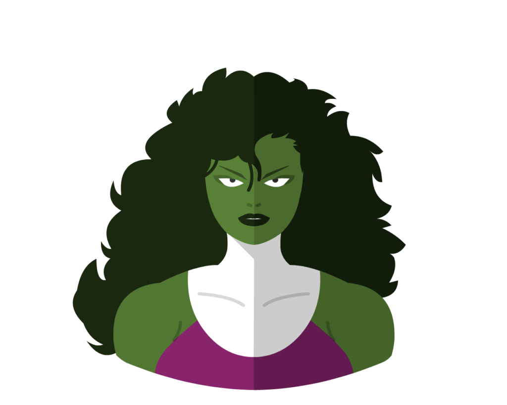 She-Hulk flat icon