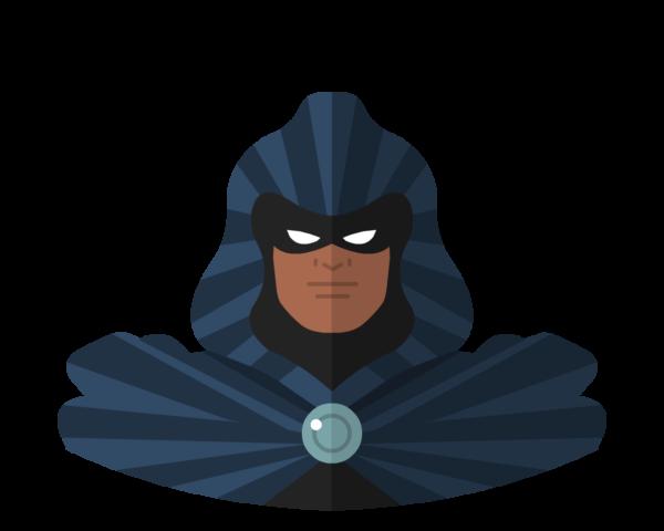 Cloak flat icon
