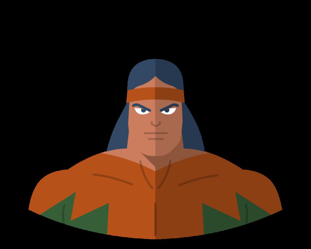 Shaman flat icon