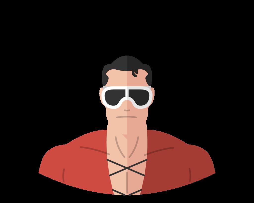 Plastic Man flat icon