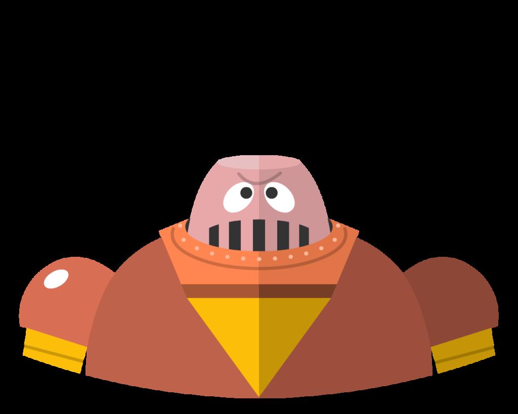 Boss Robot flat icon