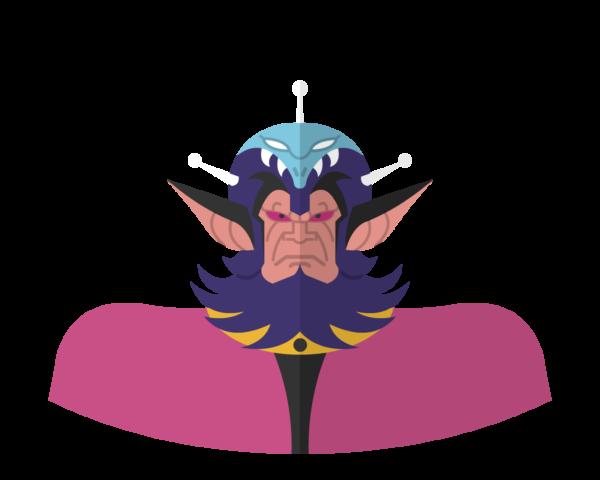 Great King Vega flat icon