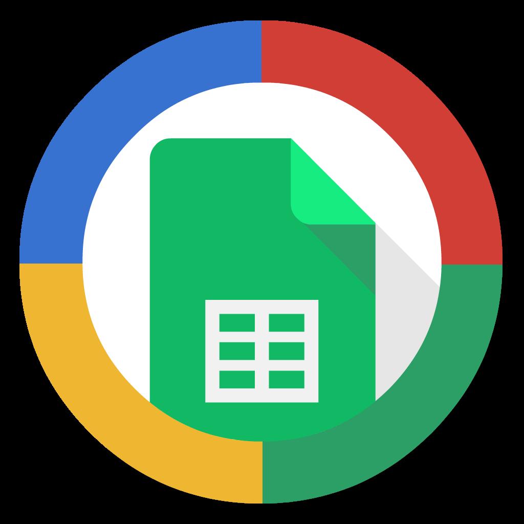 Google Sheets flat icon