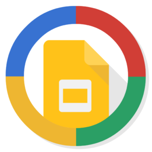 Google Slides flat icon
