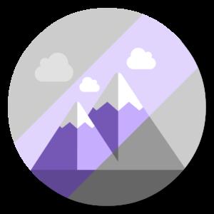 Noiseless flat icon