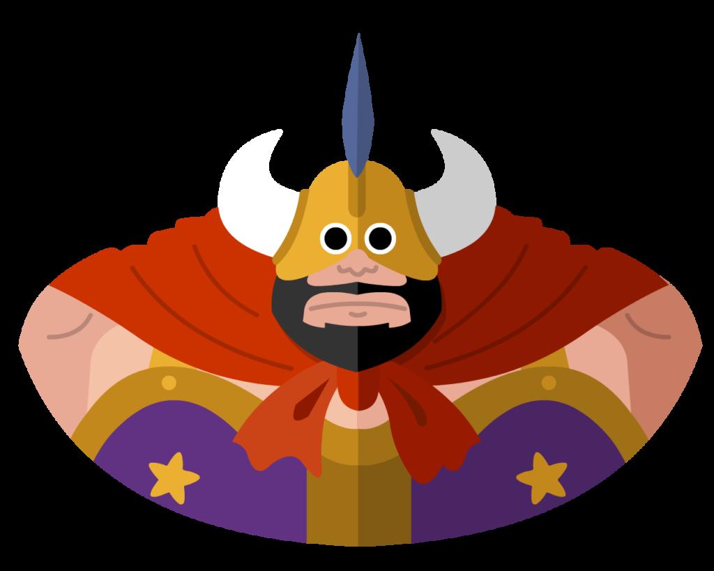 Ox King flat icon