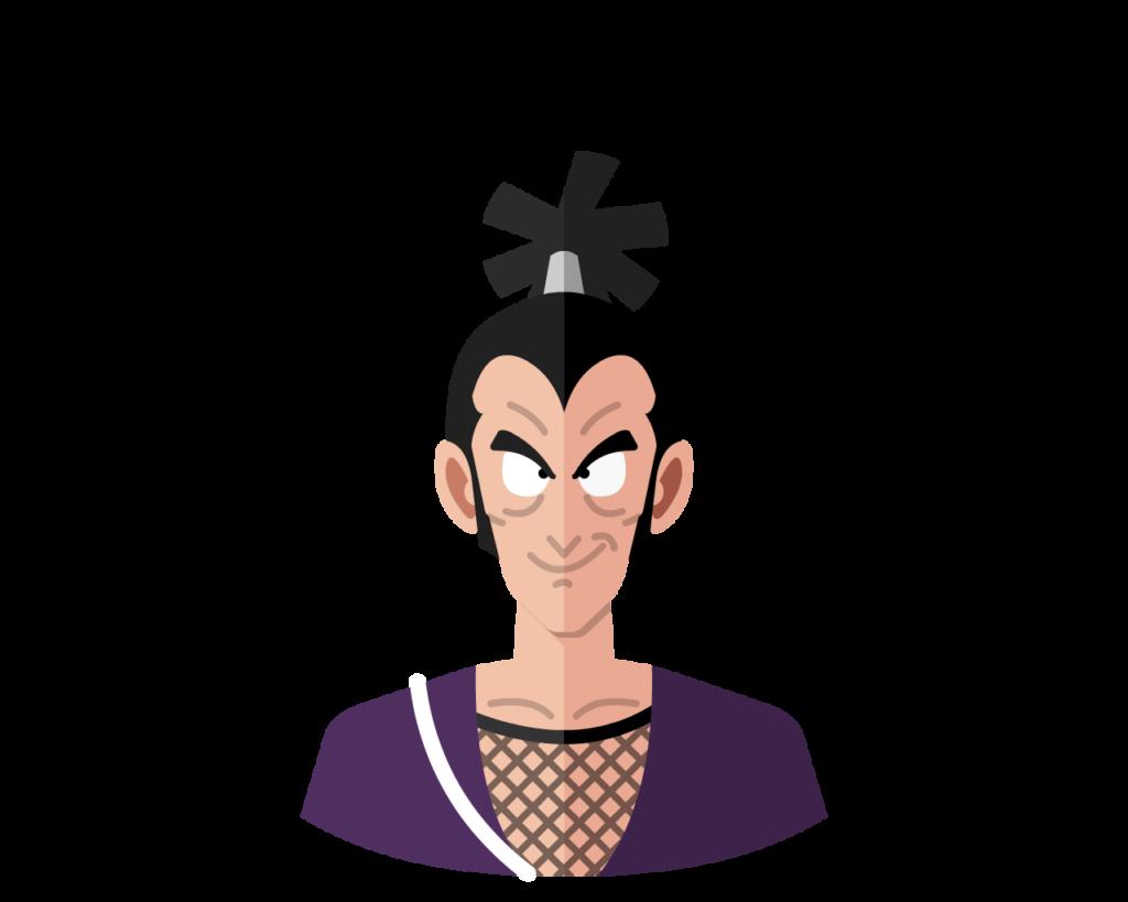 Ninja Murasaki flat icon